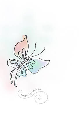 Digital Art - Wings Signed by Ginny Schmidt