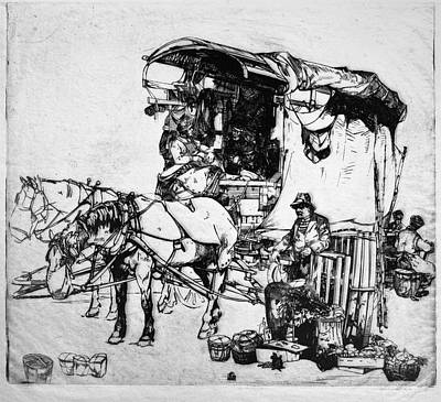 Pause Painting - Winkler Delivery Wagon by Granger