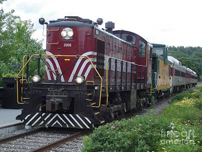 Photograph - Winnepesaukee Railroad by Kerri Mortenson