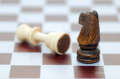 Pawn Photograph - Winner And Loser by Michal Bednarek