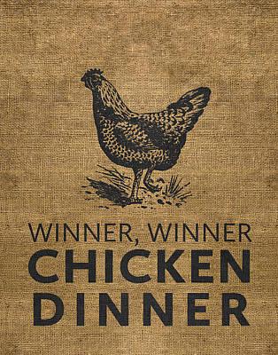 Poultry Digital Art - Winner Winner by Nancy Ingersoll