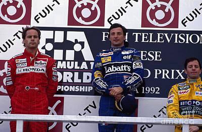 Benetton Wall Art - Photograph - 1992 Japanese Grand Prix Podium by Oleg Konin
