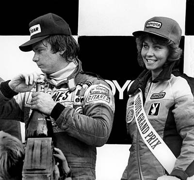 Didier Pironi Photograph - Winner's Circle by Mike Flynn