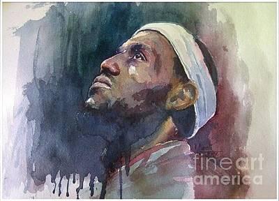 Lebron James Portrait Painting - Winners Instinct by Murali Surya
