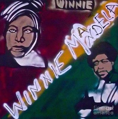 Malcolm X Painting - Winnie Mandela by Tony B Conscious