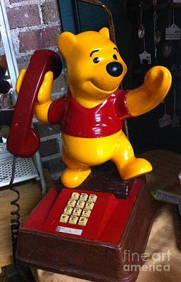 Photograph - Winnie The Pooh Phone by Saundra Myles