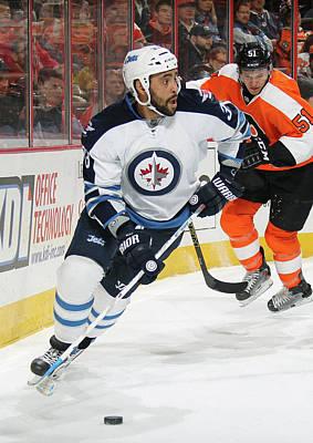Photograph - Winnipeg Jets V Philadelphia Flyers by Len Redkoles