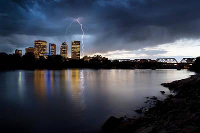 Lightning Photograph - Winnipeg Lightning by Bryan Scott