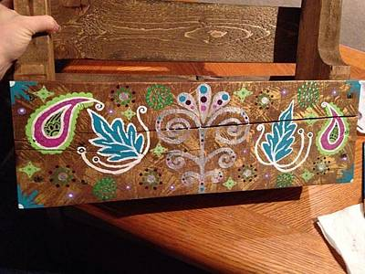 Wine Rack Painting - Wino Rack by Mandy Ellanna