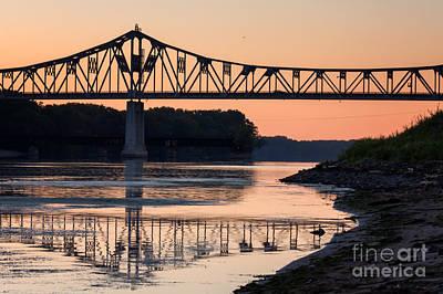 Winona Bridge Photo Early Morning Bridge Art Print