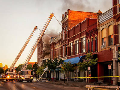 Photograph - Winona Fire by Al  Mueller