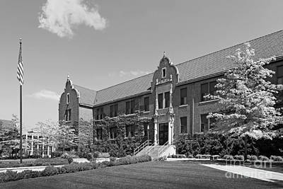 Winona State University Phelps Hall Print by University Icons