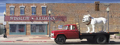 Old Truck Photograph - Winslow Arizona by Mike McGlothlen