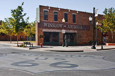 Road Sign Photograph - Winslow Arizona - Such A Fine Sight To See by Christine Till
