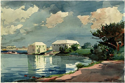 Bermudas Drawing - Winslow Homer American, 1836 - 1910, Salt Kettle by Quint Lox
