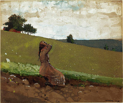 Fade Drawing - Winslow Homer American, 1836 - 1910, The Green Hill by Quint Lox