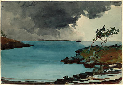 Storm Drawing - Winslow Homer, The Coming Storm, American by Quint Lox