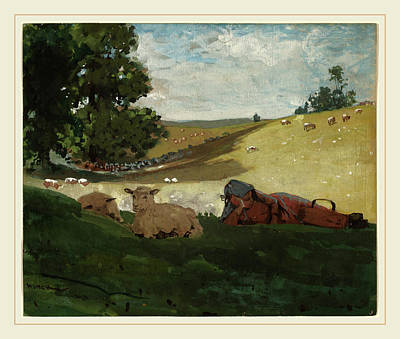 Fade Drawing - Winslow Homer, Warm Afternoon Shepherdess, American by Litz Collection