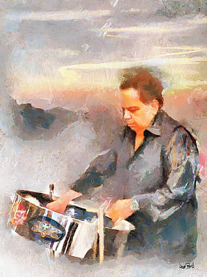 Winston And His Pan Art Print by Wayne Pascall