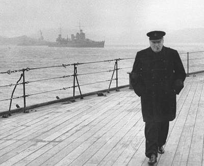 Statesman Photograph - Winston Churchill by English Photographer