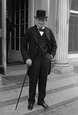 Historian Photograph - Winston Churchill by War Is Hell Store