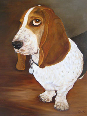 Art Print featuring the painting Winston by Karen Zuk Rosenblatt