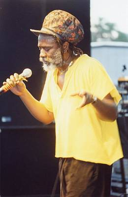 Winston Rodney Burning Spear Art Print by Audrey Robillard