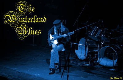 Photograph - Winter @ Winterland #17 Enhanced In Blue With Text by Ben Upham
