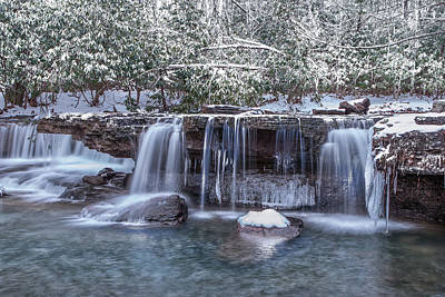 Photograph - Winter A Camp Creek by Mary Almond