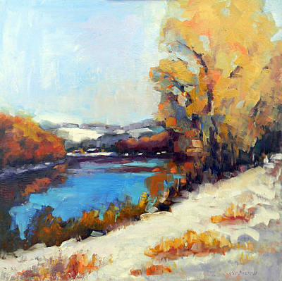 Redfield Painting - Winter Along River Drive by Kit Dalton