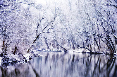 Winter Along The Wissahickon Creek Print by Bill Cannon