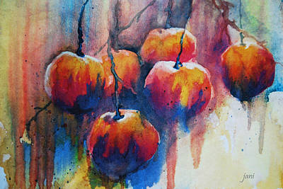 Painting - Winter Apples by Jani Freimann