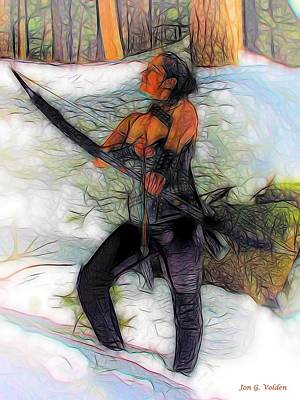Photograph - Winter Archer by Jon Volden