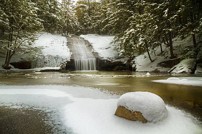 Photograph - Winter At Beede Falls by Robert Clifford