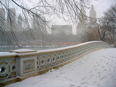 Winter At Bow Bridge Art Print by Cornelis Verwaal