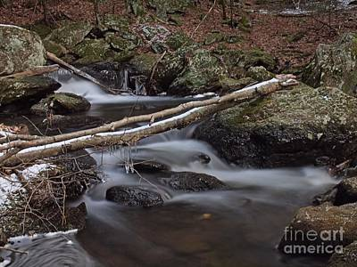 Winter At Buttermilk Falls Print by Frank Piercy