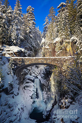 Winter At Christine Falls Print by Inge Johnsson