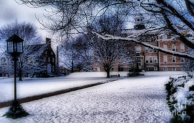 Winter At College Art Print