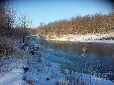 Photograph - Winter At Creekside by J Anthony Shuff