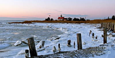 Photograph - Winter At East Point Lighthouse  by Nancy Patterson