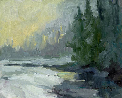 Painting - Winter At Gold Creek by Diane McClary