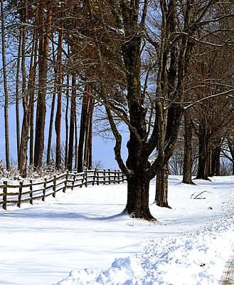 Winter At Highland Farm Print by Nina-Rosa Duddy