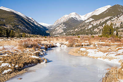 Winter At Horseshoe Park In Rocky Mountain National Park Art Print