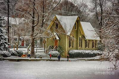 Winter At Lake Afton Art Print