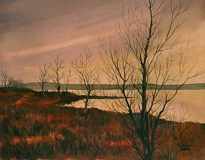 Painting - Winter At Lake Wilson by Lynne Wright