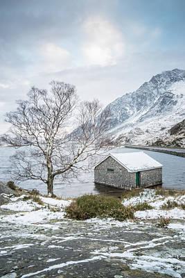 Winter At Llyn Ogwen Art Print by Christine Smart