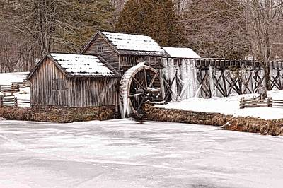 Photograph - Winter At Mabry Mill Full Size by Keith Swango