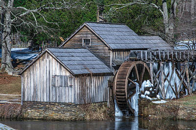 Photograph - Winter At Mabry Mill by Mary Almond