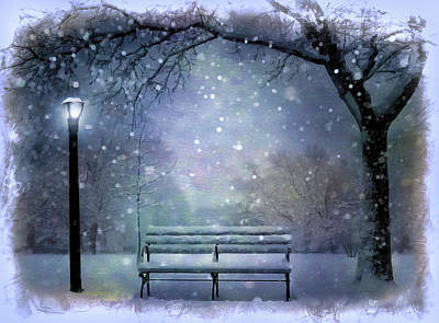 Park Scene Digital Art - Winter At Mcaren Park by Nina Bradica