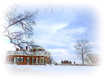 Winter At Monticello Art Print